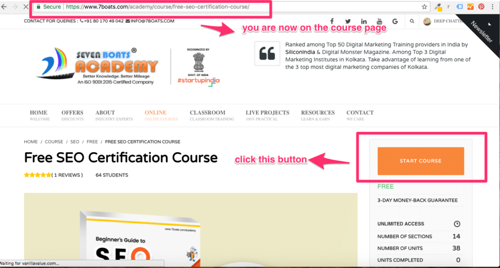 How to access courses? 5 - 5