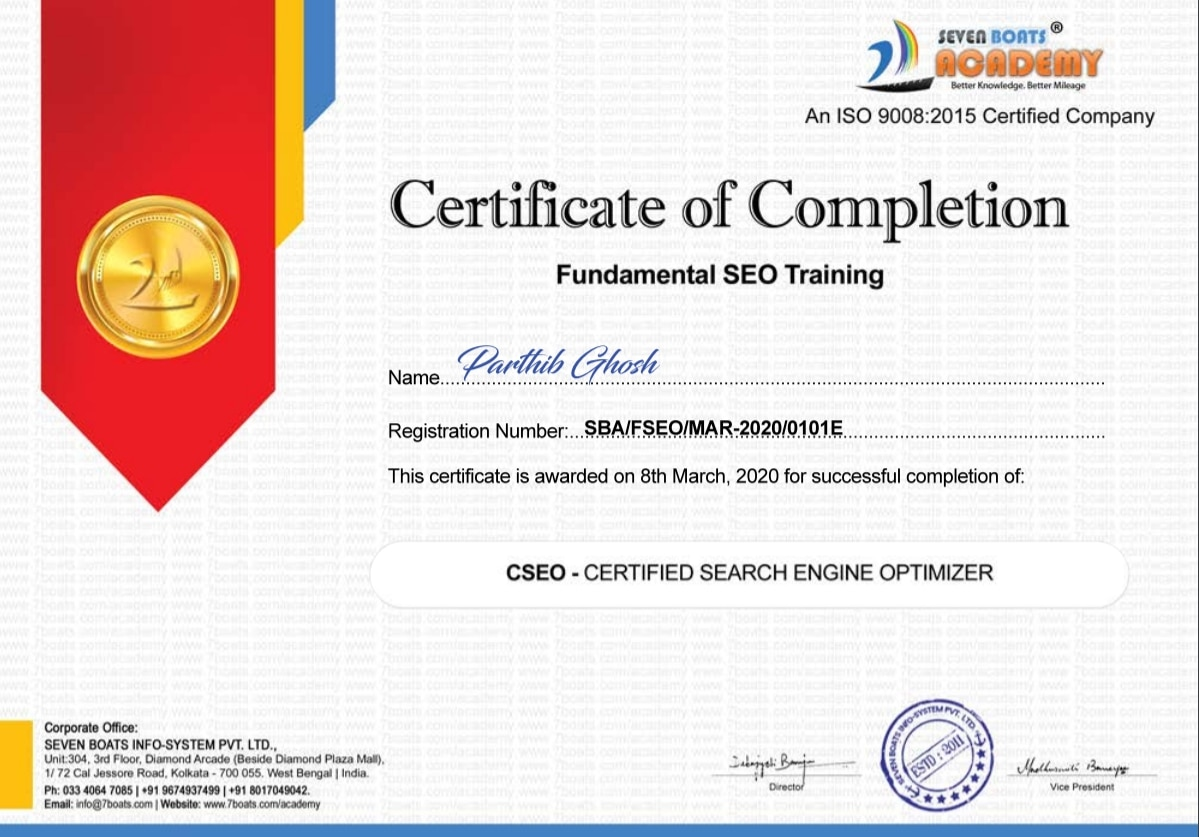 Free SEO Course 15 - Seven Boats Free SEO Certification Course India