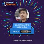 Ankit got job after digital marketing training from seven boats academy