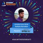sudipta Karmakar - job placement from seven boats after digital marketing course