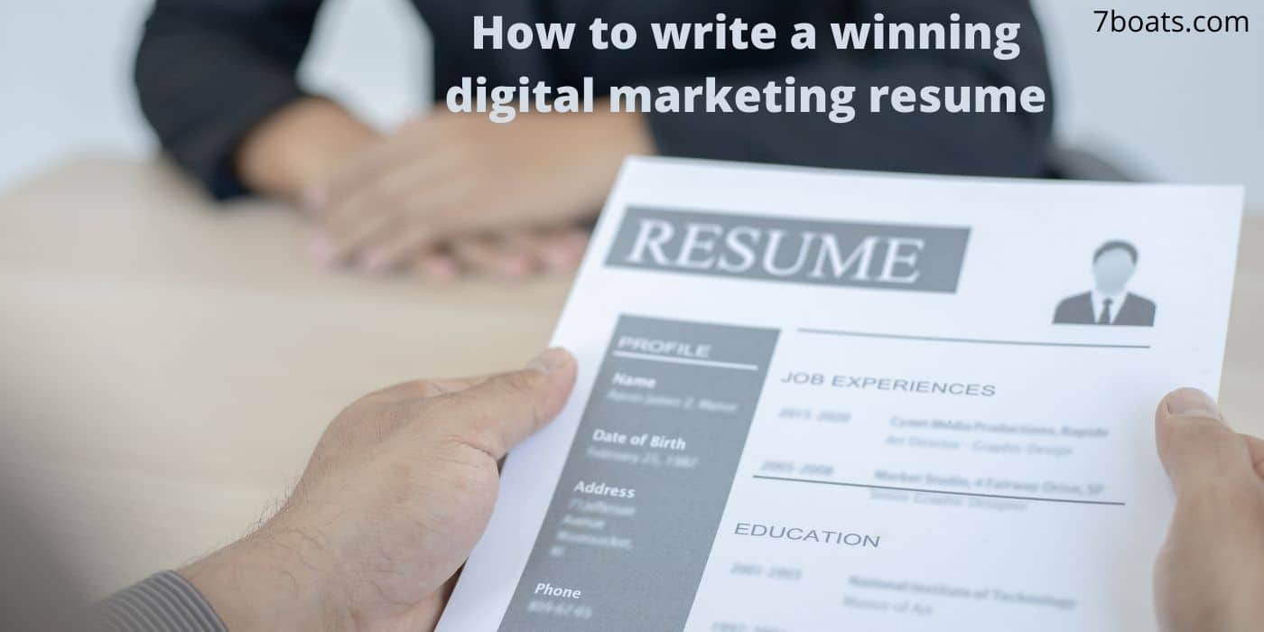 How to write a winning digital marketing resume