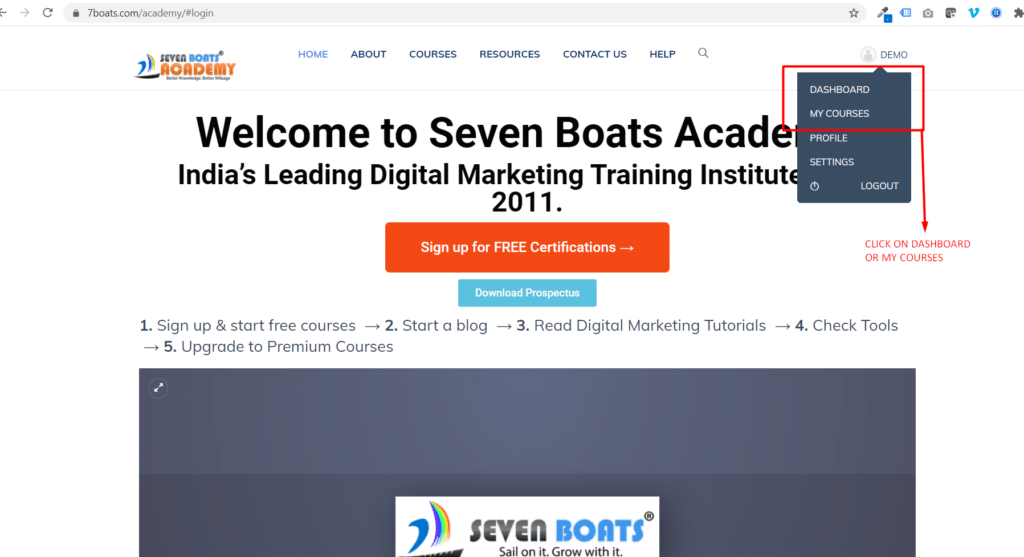 How to access courses? 4 - Screenshot 495