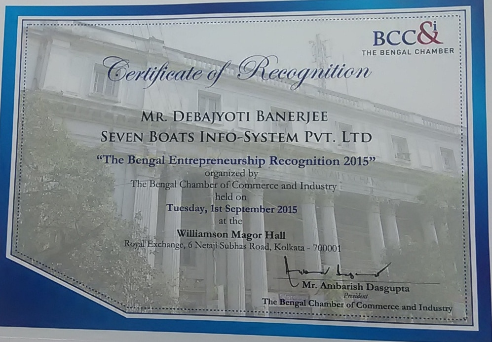 Awards 30 - bengal chamber recognition