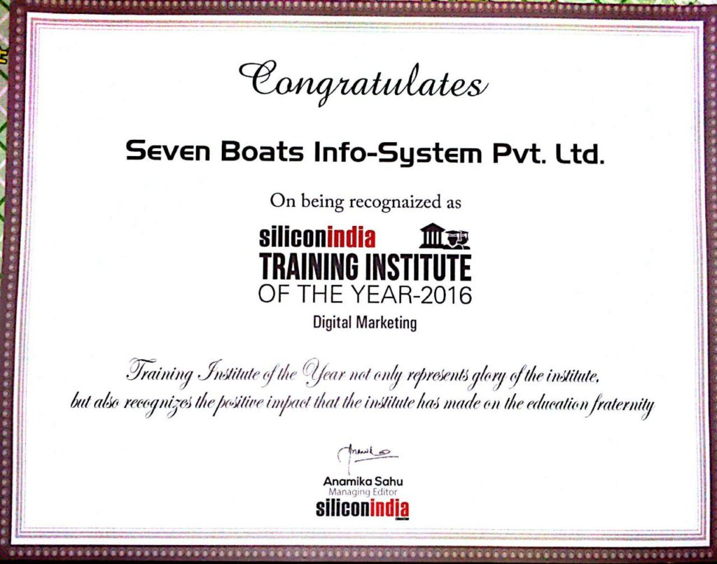 Awards 32 - silicon india certificate