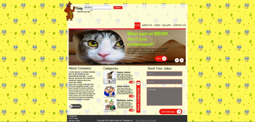 Download free jokes website template