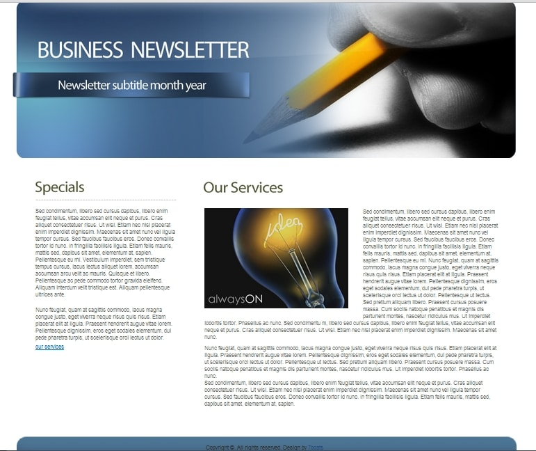 Free HTML newsletter template