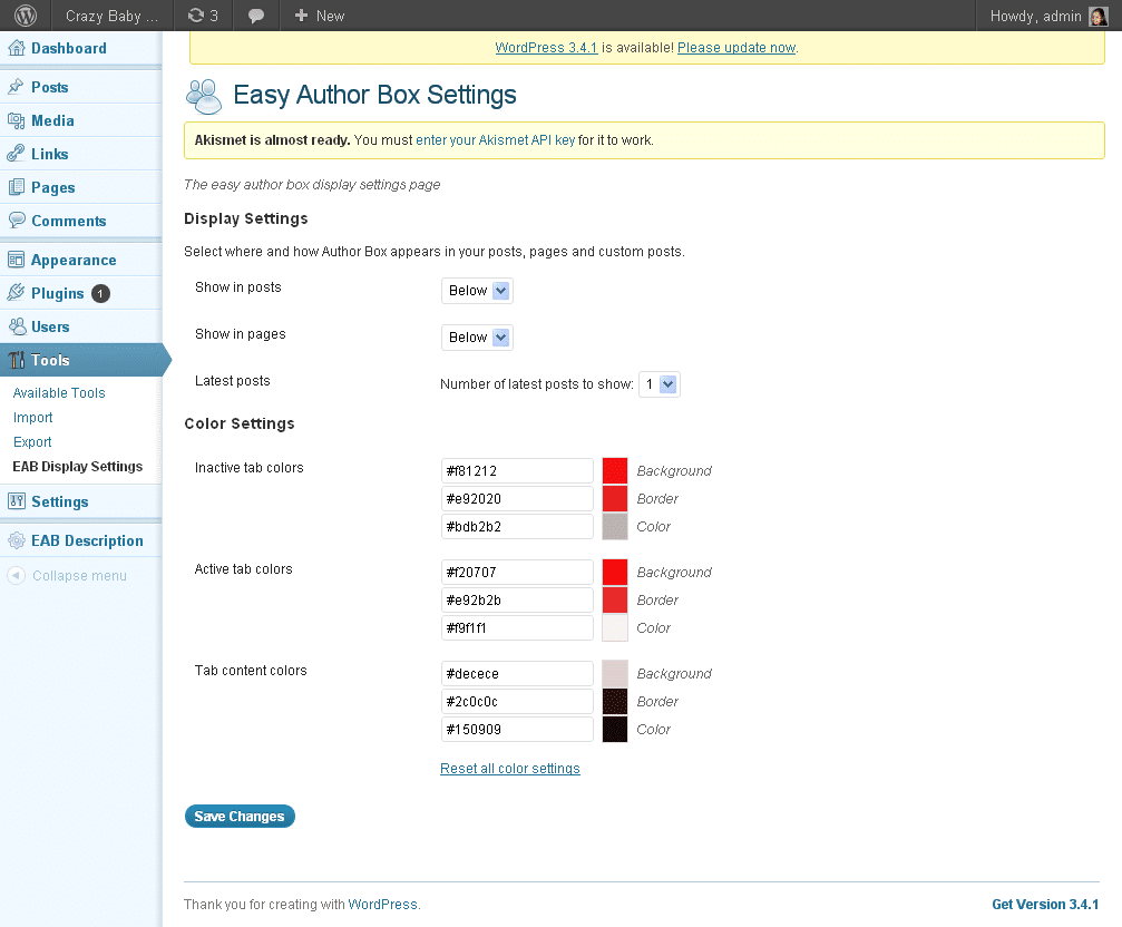 Easy Author Box Wordpress Plugin 3 - screenshot 3