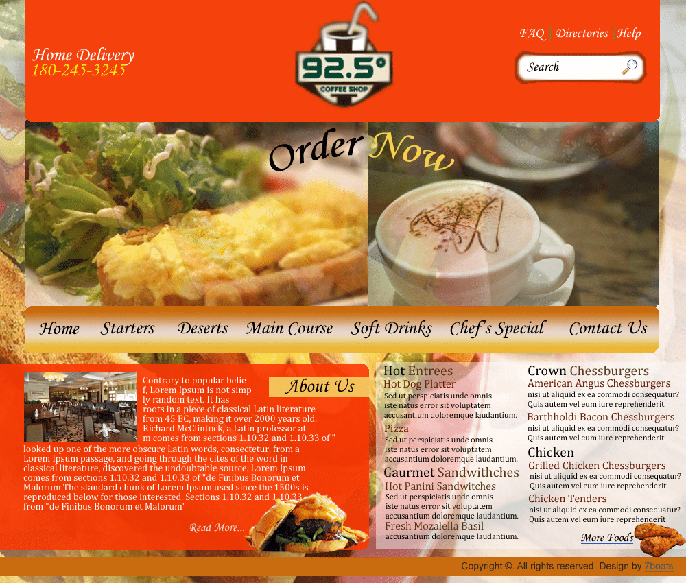 Cheap Web Design & Development for Beginners 5 - cafe restaurant