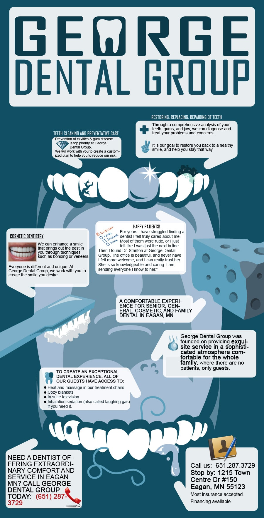 Infographics Designed by 7boats 17 - eagan dentist infographics