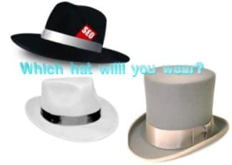 white, black and grey hat seo practices