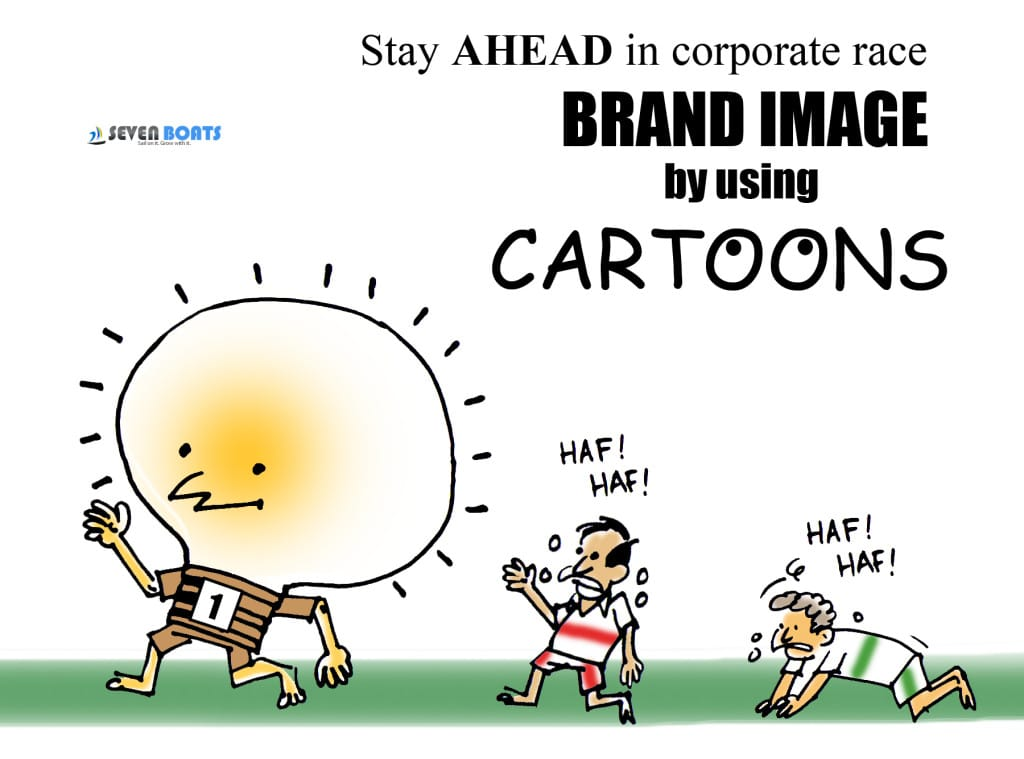 corporate cartoon service by 7boats.com
