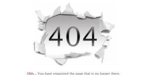 spice up your 404 error page