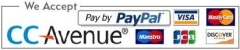 We accept payment via secured paypal & ccavenue