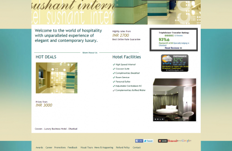 Cocoon-Luxury-Business-Hotel-Dhanbad - Digital marketing services by Seven Boats