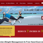 Website design of Arijit's Workout by Seven Boats