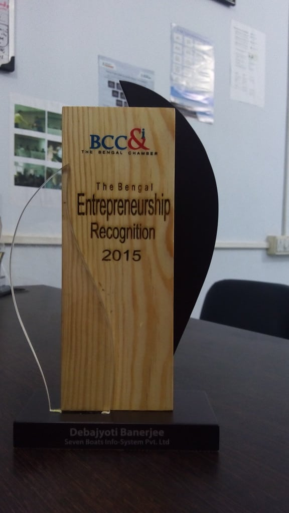 Bengal Entrepreneurship Recognition 2015 - 7Boats Digital Marketing