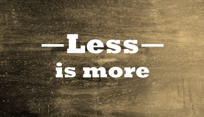 less is more in content writing