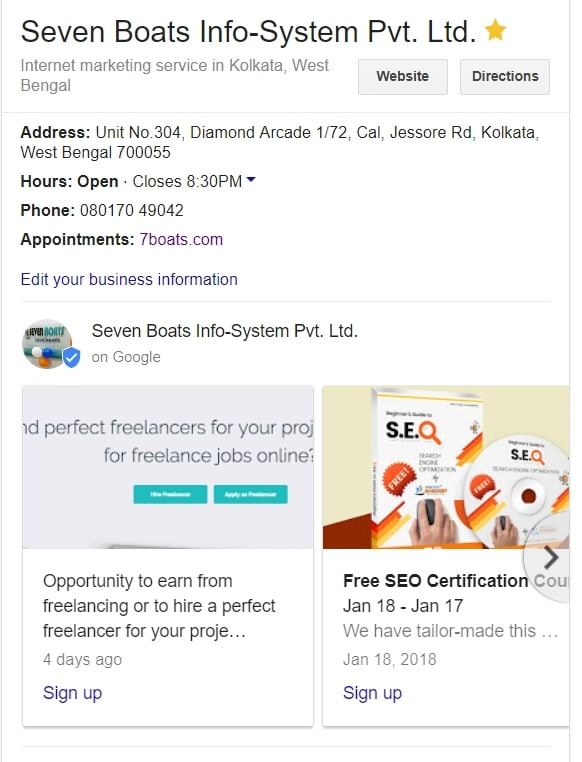 google post in google my business