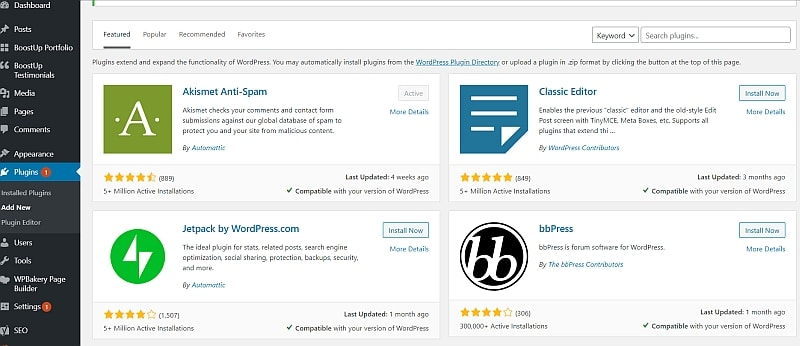 install wordpress plugins - how to start blogging