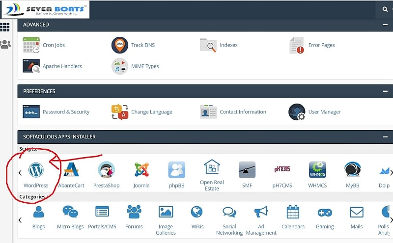 install wordpress automatically from cPanel - blogging tips