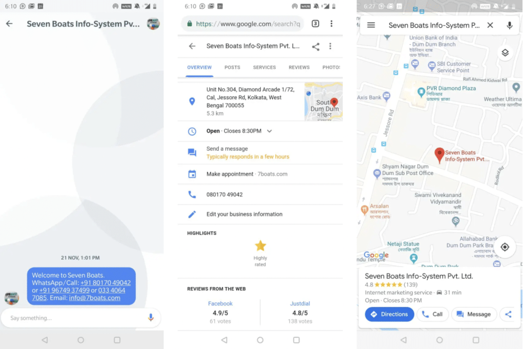 Business Messaging Now Possible on Google Maps